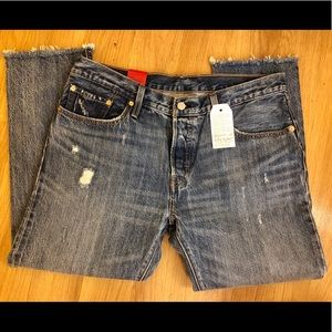 Levi's 501c cropped distressed size 31 jeans